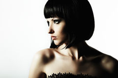 Fashion portrait of a young beautiful woman Royalty Free Stock Image