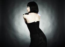 Fashion portrait of young beautiful woman Stock Image