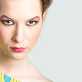 Fashion portrait of young beautiful woman. With stylish makeup Royalty Free Stock Photography
