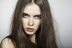 Fashion portrait of young beautiful woman Stock Photo