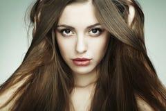 Fashion portrait of young beautiful woman Stock Photo