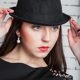 Fashion portrait young beautiful woman Royalty Free Stock Image