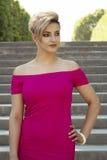 Fashion portrait of young beautiful woman. Stock Photo