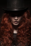 Young beauty woman wearing hat royalty free stock image
