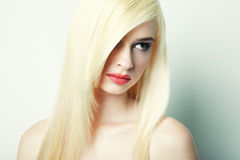 Fashion portrait of a young blonde woman Royalty Free Stock Photo