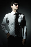 Fashion portrait of the young businessman Stock Images