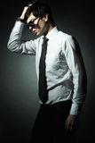 Fashion portrait of the young businessman Stock Photo