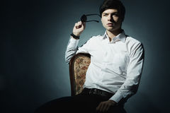Fashion portrait of the young businessman Stock Image