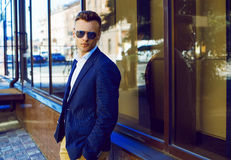 Fashion portrait of a young casual man looking away Royalty Free Stock Photo