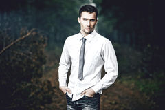 fashion portrait of young man, outdoors Stock Photo