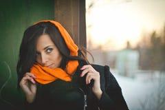 Fashion portrait of young muslim wearing hijab stock image