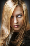 Fashion portrait of young female model Stock Photography