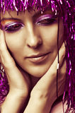 Fashion portrait of young woman face Stock Photography