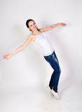Fashion portrait of young sportine teenager girl Royalty Free Stock Photo