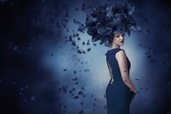 Fashion portrait of young woman Royalty Free Stock Photos