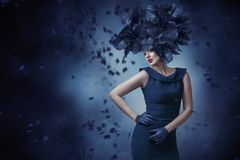 Fashion portrait of young woman Stock Photo