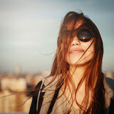 Fashion portrait of young woman in sunglasses Royalty Free Stock Photo