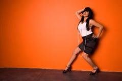 Fashion pose. Royalty Free Stock Image