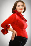 Fashion pregnant Royalty Free Stock Images
