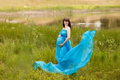 Fashion pregnant girl Royalty Free Stock Photos