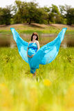 Fashion pregnant girl Stock Images