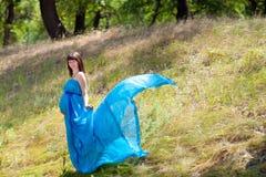 Fashion pregnant girl Royalty Free Stock Photo