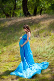 Fashion pregnant girl Royalty Free Stock Photo
