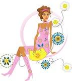 Fashion pregnant woman Royalty Free Stock Photo