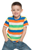 Fashion preschool boy Royalty Free Stock Photos