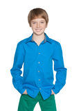 Fashion preteen boy Royalty Free Stock Image