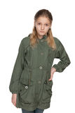 Fashion preteen girl in the jacket Royalty Free Stock Photo