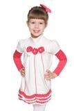 Fashion pretty little girl Stock Image