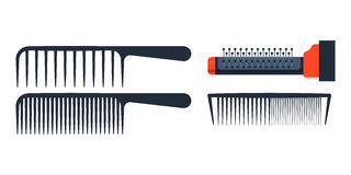 Fashion professional comb icon style hairdresser care equipment and barbershop flat hairbrush grooming curl shape vector. Illustration. Glamour plastic salon Stock Photo
