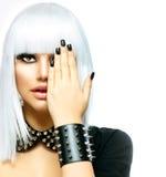 Fashion Punk Style Girl Stock Photo