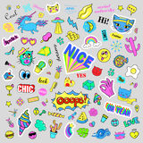 Fashion quirky cartoon doodle patch badges with cute elements. Isolated vector. Set of stickers,pins,patches in comic. Fashion quirky cartoon doodle patch badges vector illustration