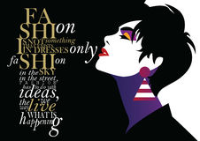 Fashion quote with fashion woman. royalty free illustration