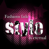 Fashion quote Royalty Free Stock Images