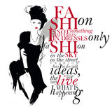Fashion quote stock illustration