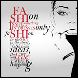 Fashion quote with modern girl Stock Photo
