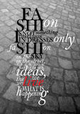 Fashion quote Stock Photo