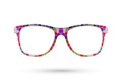 Fashion rainbow glasses style plastic-framed isolated on white b Royalty Free Stock Photo
