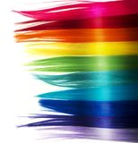 Fashion rainbow hair background Stock Photos