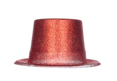 Fashion red hat isolated on white Royalty Free Stock Photo