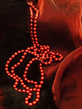 Fashion red necklace Stock Photos