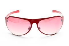 Fashion Red Sunglasses Stock Images