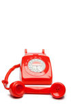 Fashion red telephone Royalty Free Stock Image