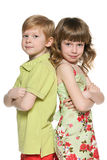 Fashion redhead boy and  girl Royalty Free Stock Images