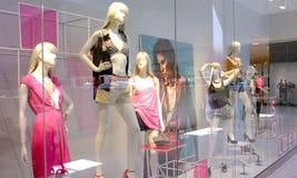 Fashion retail. Fashion clothing retail display sales stock images