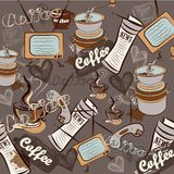 Fashion retro coffee pattern for design Royalty Free Stock Images