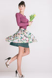Fashion retro spring style Royalty Free Stock Image